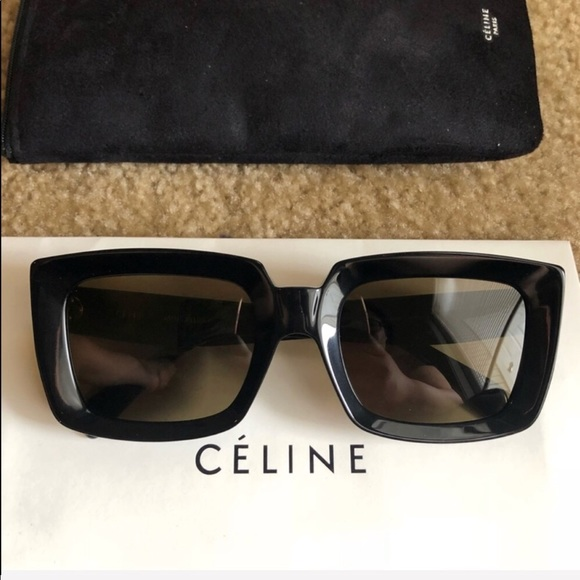 27e74f9d23f New Authentic Celine Black Square Sunglasses